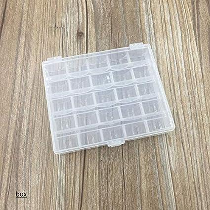 YFB Hilo de coser Caja de la canilla Cajas de contenedores Plástico transparente Multicolor Bobina Máquina de coser Soporte para 25 cajas Organizador de almacenamiento: Amazon.es: Oficina y papelería