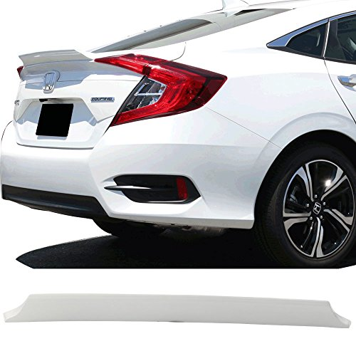 (Pre-painted Trunk Spoiler Fits 2016-2018 Honda Civic | IKON Style FRP Painted #NH788P White Orchid Pearl Trunk Boot Lip Rear Spoiler Wing Deck Lid Other Color Available By IKON MOTORSPORTS | 2017)