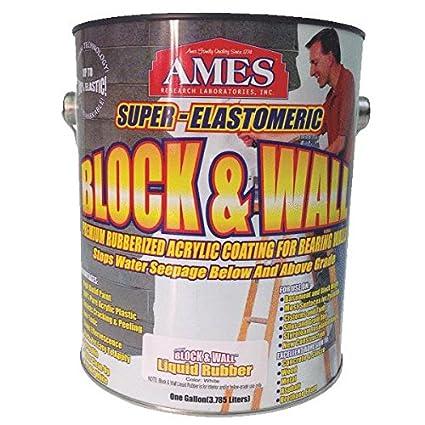 Amazon Ames Block & Wall Rubberized Acrylic Coating For Walls