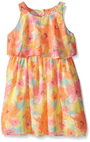 Price comparison product image Pogo Club Big Girls Monet's Garden Chiffon Dress with Bag Vitamin C Small / 7 / 8