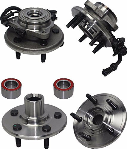 Detroit Axle - Front Wheel Bearing and Rear Hub Assembly Set for 2002 2003 2004 2005 Ford Explorer 4-Door - [2002-2005 Mercury Mountaineer] - 2003-2005 Lincoln Aviator