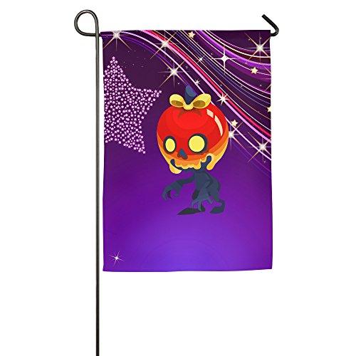Umison Halloween Pumpkin Skull Head Decorative Garden Flag Trends Outdoor Flag (Crood Halloween Costumes)