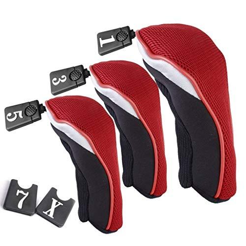 3 Pack 1 3 5 Wood Golf Club Driver Headcovers Head Covers Set