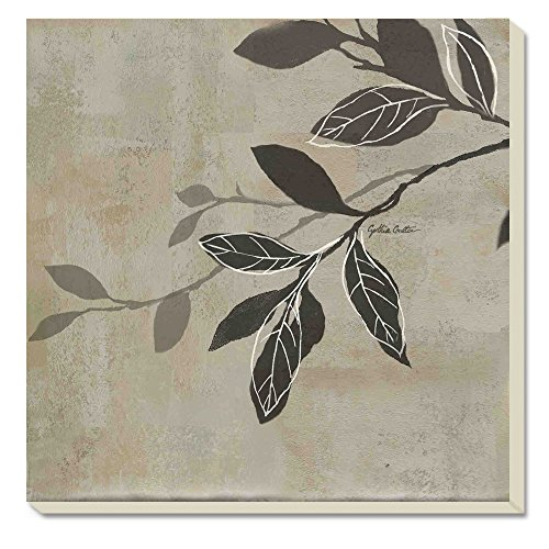 CounterArt Grey Leaves Absorbent Coasters