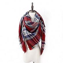 Women's Classic Plaid Tartan Grids Scarf Pashmina Blanket Winter Wraps Shawl