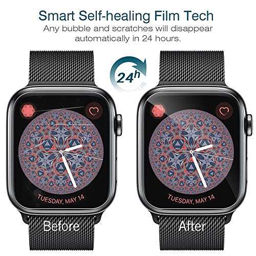 LK [6 Pack] Screen Protector for Apple Watch 40mm Series 4/5 - Max Coverage Bubble-Free Anti-Scratch iWatch 40mm Flexible TPU Clear Film