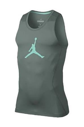 Men's Jordan AJ All Season 23 Compression Tank Top (Medium, Hasta/Hyper  Turquoise