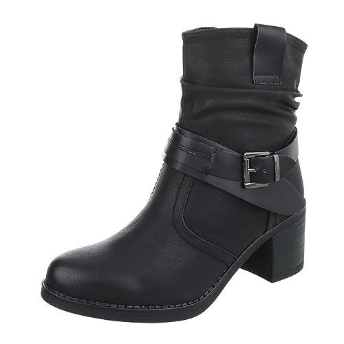Zapatos para Mujer Botas Tacón Ancho Botines Camperos Negro Tamaño 37: Amazon.es: Zapatos y complementos