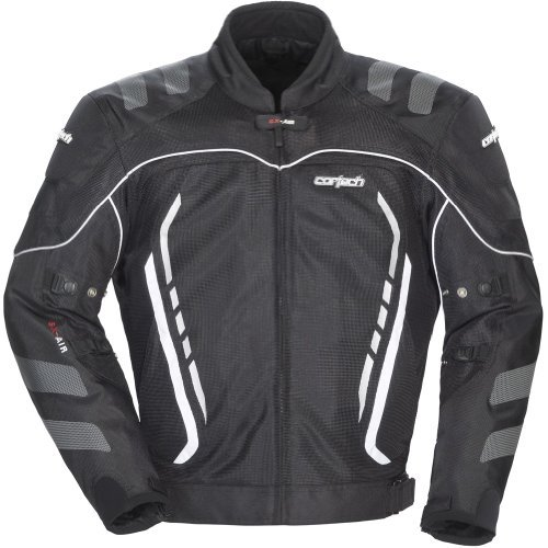 Cortech GX Sport Air 3 Men's Mesh Armored Motorcycle Jacket (Black, X-Small)