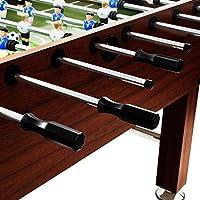 Nishore Futbolín 60 kg Material de MDF + Acero 140 x 74,5 x 87,5 cm Marrón: Amazon.es: Hogar