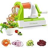 Spiralzer Vegetable Slicer, DUSA Spiral Slicer, Vegetable Slicer, 4 Blades Zoodle Maker, Best Veggie Pasta Spaghetti Maker for Low Carb/Paleo/Gluten