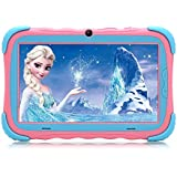iRULU 7 inch Kids Tablet: Upgraded Android 7.1 Children Tablet PC with IPS HD Screen, 1GB+16GB, WiFi, Dual Camera and Bluetooth, Kids-Proof Case Y57 Babypad (Pink)