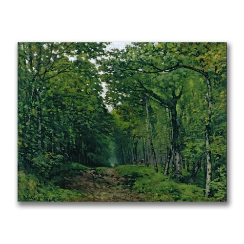 The Avenue Of Chestnut Trees by Alfred Sisley, 24×32-Inch Canvas Wall Art