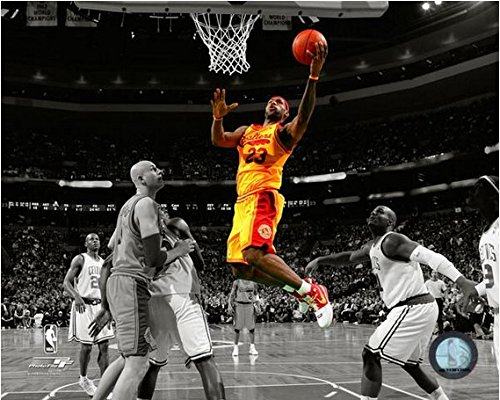 LeBron James Cleveland Cavaliers NBA Spotlight Action Photo (Size: 8'' x 10'') by NBA