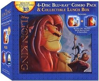 Amazon Com The Lion King Diamond Edition 4 Disc Blu Ray Combo Pack Collectible Lunch Box Blu Ray 3d Blu Ray Dvd Digital Copy Jonathan Taylor Thomas Matthew Broderick James Earl Jones Jeremy