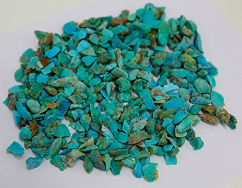 1/2 LB COLORS OF KINGMAN TURQUOISE INLAY CHIPS 1/4