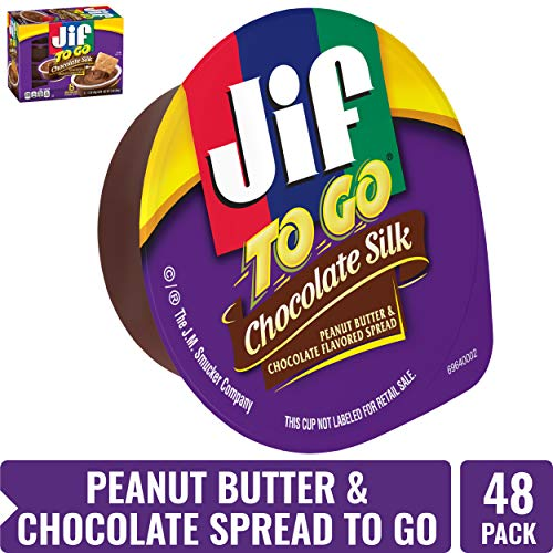 Jif To Go Chocolate Silk Peanut Butter and Chocolate Flavored Spread, 12 Ounce (Pack of 6)
