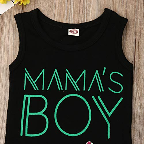 Infant boy Outfits 0-3 Months Summer Baby Boys Outfits Sets Shirts Shorts Pants 2 Piece momas boy Black Coconut Tree Coco Palm Hawaii Style