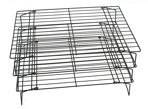 SparrK Three-layer baking cake cookies cold rack bread cooling rack black non-stick cold drying net