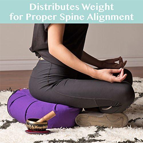 Amazon.com: Cojín de yoga con diseño de trigo sarraceno ...