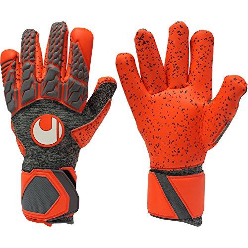 - uhlsport AERORED SUPERGRIP Finger Surround Goalkeeper Gloves Size 7.5