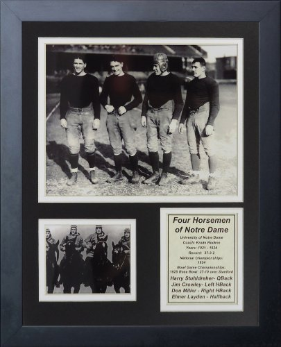 Four Horsemen Notre Dame (Legends Never Die Four Horsemen of Notre Dame Framed Photo Collage, 11 by 14-Inch)