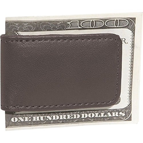 Royce Leather Men's Magnetic Money Clip, Brown (Folding Money Clip)