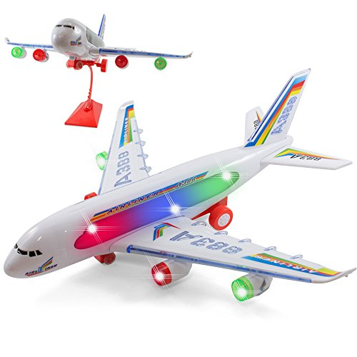 Kidsthrill Bump And Go Electric A388 Airliner Kids Action Airplane - Attractive Lights And Plane Sounds - Changes