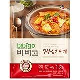 Korean Bibigo Pre-made Packaged Tofu Kimchi/Soybean Paste Soup (Tofu Kimchi Soup, 1 Pack)