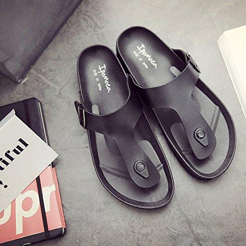Xing Lin Sandalias De Hombre Hombre Sandalias Sandalias Verano Hombres Marea Cool Zapatillas Playa Remolcados Corcho Zapatillas black