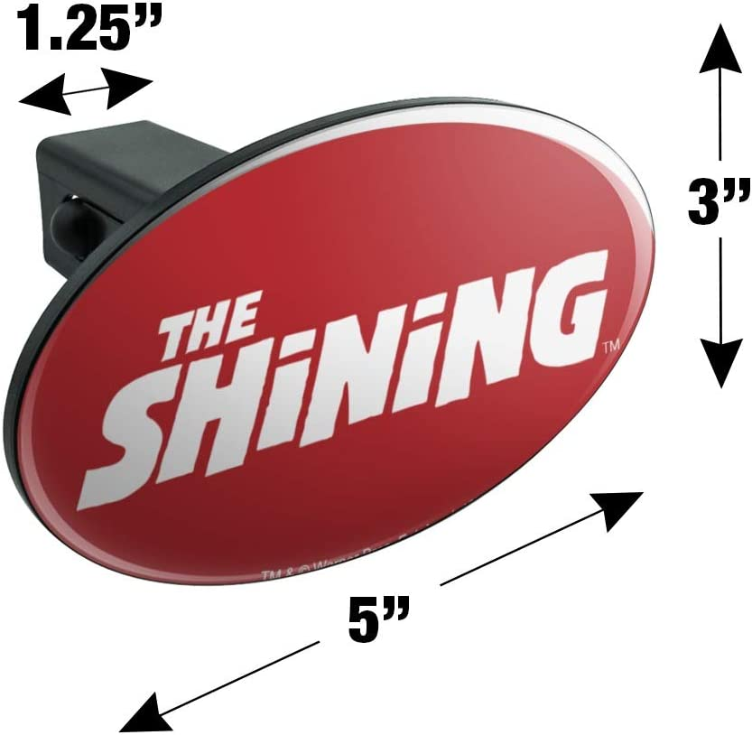 Graphics and More The Shining Logo Oval Tow Trailer Hitch Cover Plug Insert