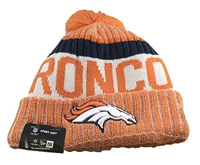 New Era Men's Men's Broncos 2017 Sideline Official Sport Knit Hat