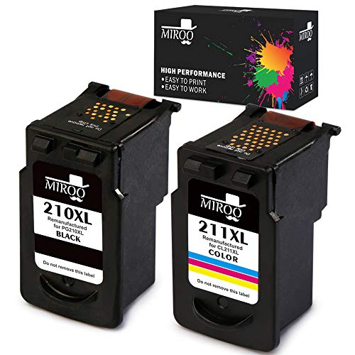 MIROO Remanufactured Canon PG-210XL CL-211XL Ink Cartridge C