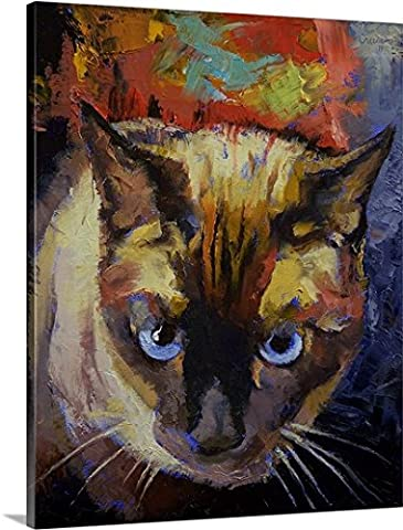 Michael Creese Premium Thick-Wrap Canvas Wall Art Print entitled Seal Point Siamese - Seal Point Siamese Cats