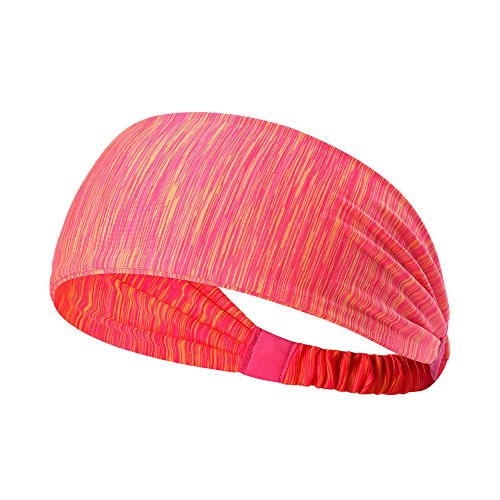 Wide Elastic Sports Hair Band+1 free Headband - 2