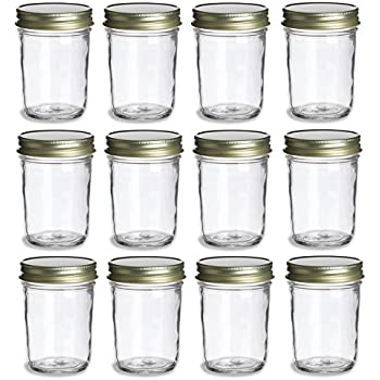 ball mason 8oz quilted jelly jars with lids and bands set of 12 canning jars. Black Bedroom Furniture Sets. Home Design Ideas