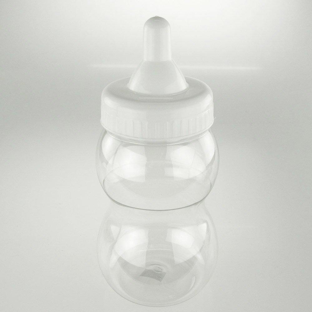 13'' Jumbo Milk Bottle Coin Bank Baby Shower Favors (White)
