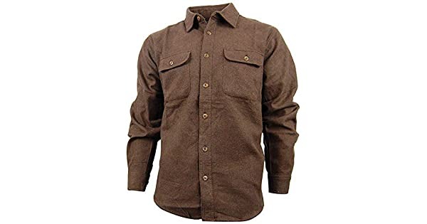 Men/'s Button Down Soft Brushed Chamois ShirtWarm Cotton FlannelLong Sleeve