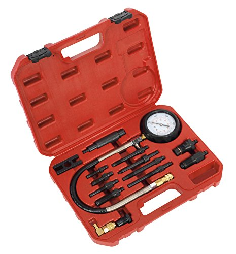 (PMD Products 16pc Diesel Engine Compression Pressure Tester Gauge Kit for use with Audi Mercedes Benz Ford GM Landrover)