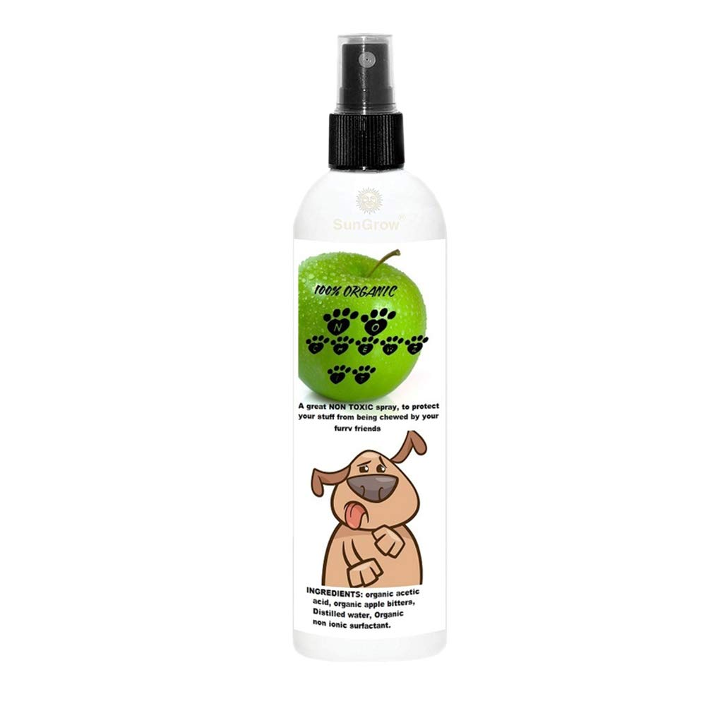 SunGrow Anti-Chew Spray: Deters Chewing and Biting by Dogs, Cats, Ferrets & Rabbits - Alcohol-Free & Veterinary-Approved Formula - Protects Your Home & Furniture from Damage by SunGrow