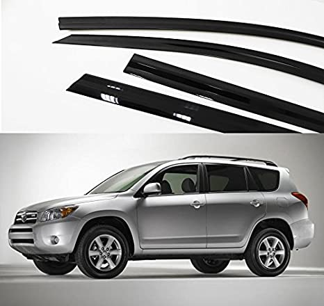Amazon.com  AutoClover A170 Toyota RAV4 Smoke Window Vent Sun Visors ... 686db62b24c