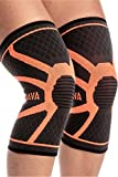 Sports Equipment Best Deals - Mava Sports Knee Compression Sleeve Support (Pair) for Joint Pain & Arthritis Relief, Injury Recovery, Improved Circulation - Breathable Support for Running, Jogging, Walking and Recovery