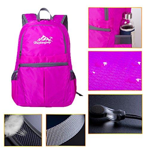 20L Daypack Rucksack Notebooktasche , Unisex, Praktisch Rose Rot