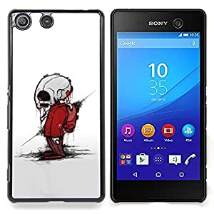 - Zombie Skeleton - - Cubierta del caso de impacto con el patr??n Art Designs FOR Sony Xperia M5 Queen Pattern