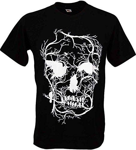 Tshirtmystyle Skull Tree Bird Death Man T-shirt