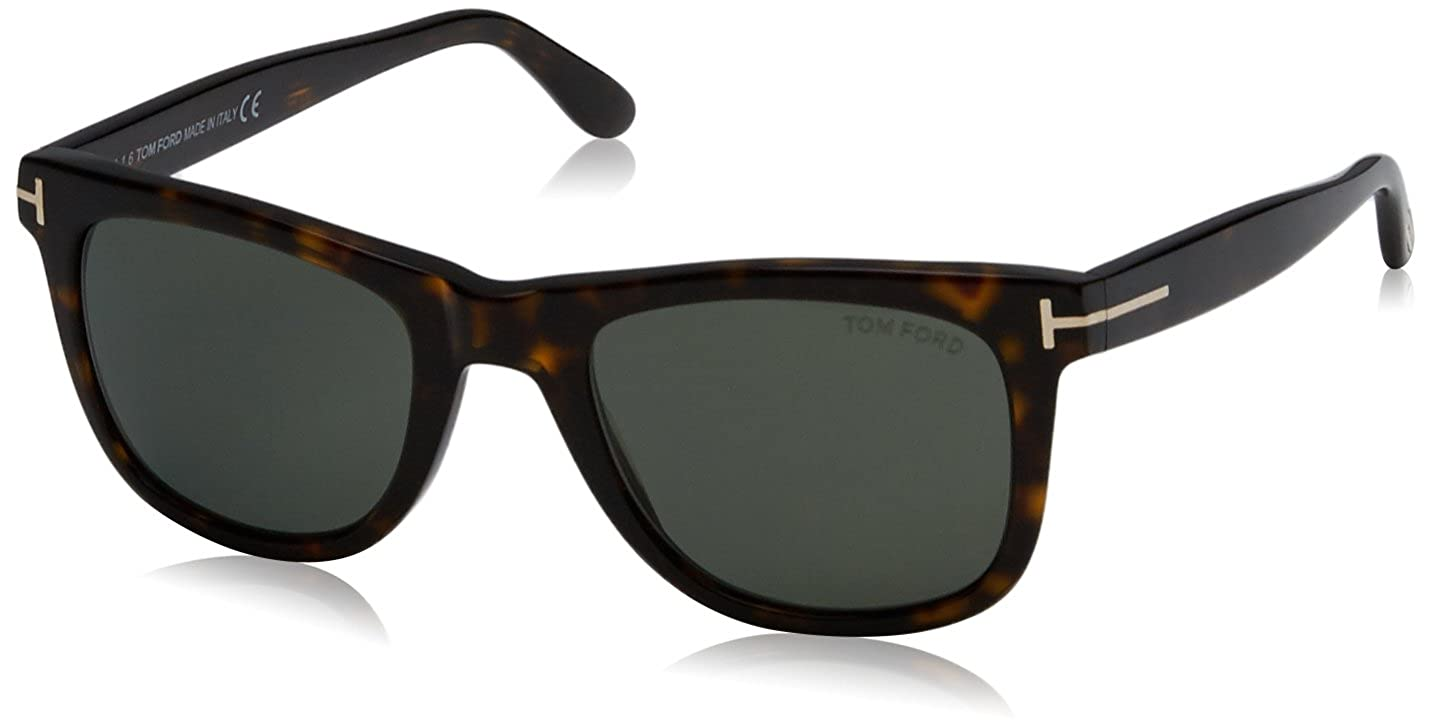 19e334b40a51 Amazon.com  Tom Ford Leo 336 Wayfarer Leo Havana Polarized  Tom Ford   Clothing