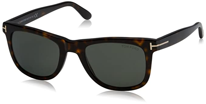 6b356ea1a48 Amazon.com  Tom Ford Leo 336 Wayfarer Leo Havana Polarized  Tom Ford ...