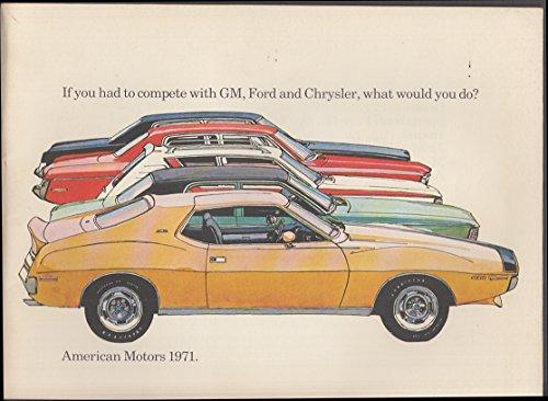 1971 AMC American Motors catalog Gremlin Hornet Matador Javelin Ambassador AMX