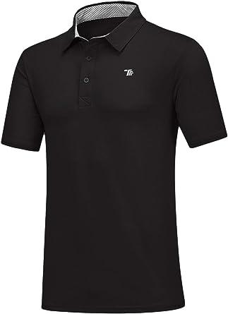Rdruko Men's Polo Golf Shirts Quick Dry Moisture Wicking Running Training Casual Shirts 2 Pack
