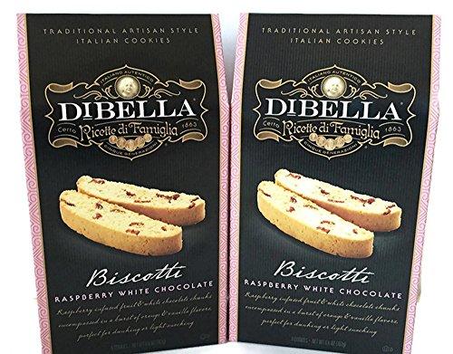 Dibella Raspberry White Chocolate Biscotti (Pack of 2)